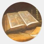 Biblia de Vincent van Gogh, impresionismo del vint Pegatinas Redondas
