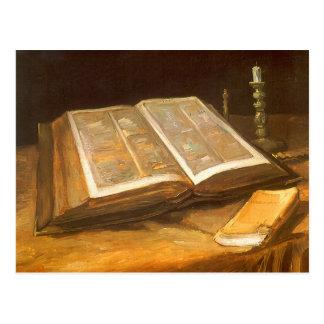 Biblia de Vincent van Gogh impresionismo del vint Postal