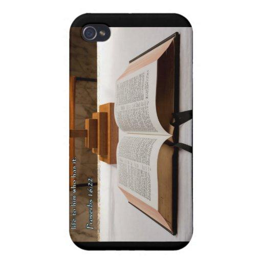 Biblia del 16:22 de los proverbios iPhone 4/4S carcasas