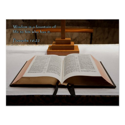 Biblia del 16:22 de los proverbios póster