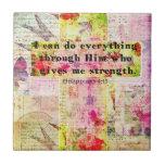 BIBLIA espiritual cristiana del arte del 4:13 de l Azulejo
