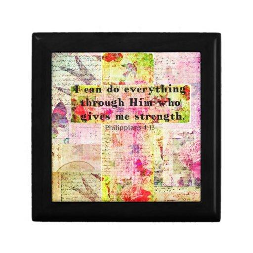 BIBLIA espiritual cristiana del arte del 4:13 de l Caja De Regalo