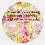 BIBLIA espiritual cristiana del arte del 4:13 de Etiqueta Redonda