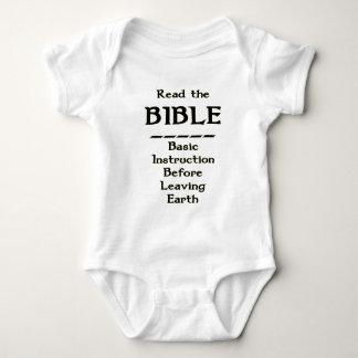Biblia - instrucción básica antes de dejar la body para bebé
