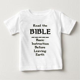 Biblia - instrucción básica antes de dejar la playera de bebé