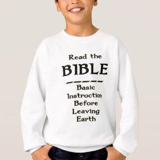 Biblia - instrucción básica antes de dejar la sudadera