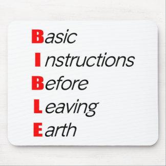 Biblia, instrucciones básicas para dejar el regalo tapetes de ratón