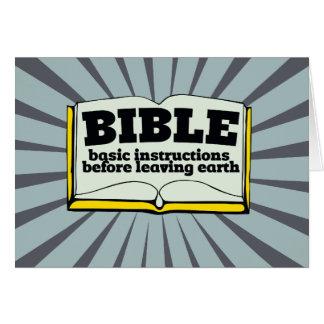 Biblia - instrucciones básicas felicitacion
