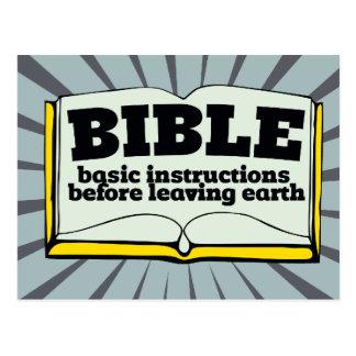 Biblia - instrucciones básicas tarjeta postal