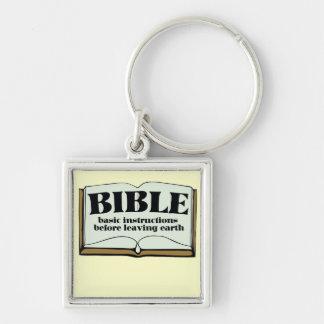 BIBLIA LLAVERO CUADRADO PLATEADO