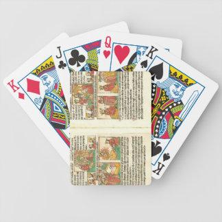 Biblia Paupernum Nativity Bicycle Playing Cards
