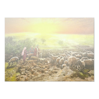"""Biblia - salmo 23 - mi runneth de la taza durante invitación 5"""" x 7"""""""