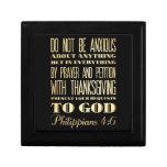 Biblia Scriptural cristiana - 4:6 de los filipense Cajas De Joyas