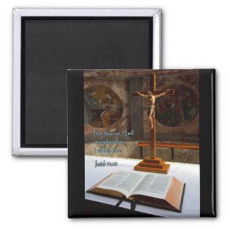 Biblia y cruz del 41 10 de Isaías Imanes