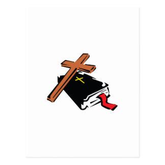 BIBLIA Y CRUZ POSTALES