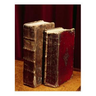 Biblias que pertenecen a señor Byron y Augusta Tarjeta Postal