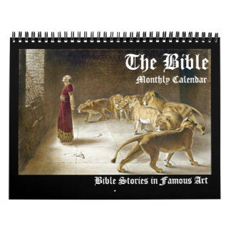 Biblical Bible Fine Art Monthly Artwork Calendar