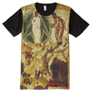 Biblical Christ Configuration Paint All-Over-Print Shirt