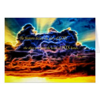 Biblical Electrified Cumulus Clouds Skyscape Card