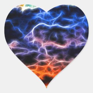 Biblical Electrified Cumulus Clouds Skyscape Heart Sticker