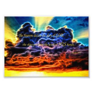 Biblical Electrified Cumulus Clouds Skyscape Photo Print