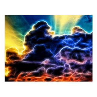 Biblical Electrified Cumulus Clouds Skyscape Postcard