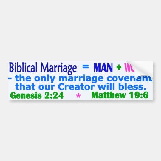 Biblical Marriage Bumper Sticker