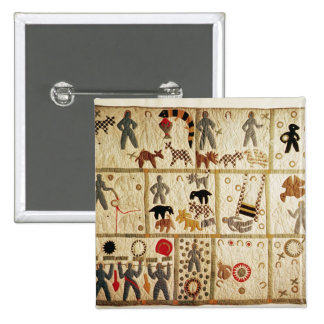 Biblical quilt, Virginia Pinback Button
