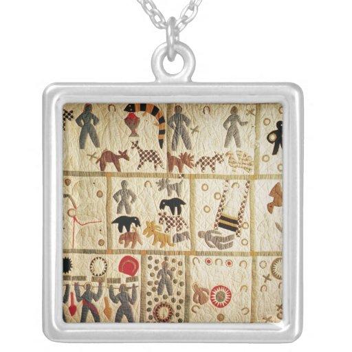Biblical quilt, Virginia Square Pendant Necklace