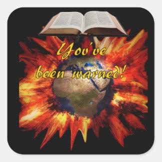 Biblical Revelation Square Sticker