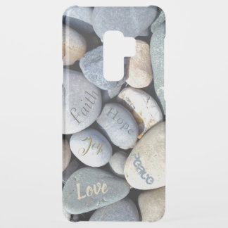 Biblical Values Love Hope Faith Joy Peace Pebbles Uncommon Samsung Galaxy S9 Plus Case