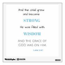 Biblical Wall Decal Baby Boy Nursery Decal