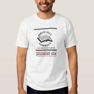 Bíblico corrija (no no político corregir) camisas