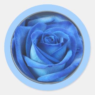 Bibliecal Blue 1c on light blue Round Sticker
