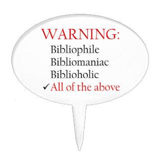 Biblio Warning Notice Cake Pick