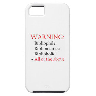 Biblio Warning Notice iPhone 5 Covers