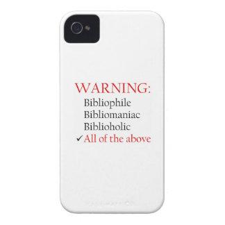 Biblio Warning Notice iPhone 4 Covers