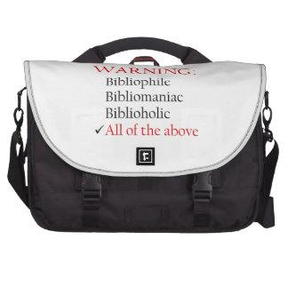 Biblio Warning Notice Computer Bag
