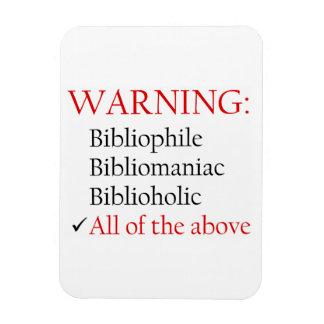 Biblio Warning Notice Magnet Vinyl Magnets