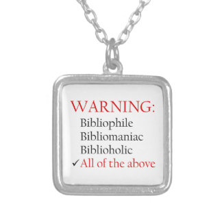 Biblio Warning Notice Custom Jewelry