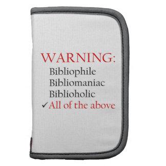 Biblio Warning Notice Folio Planner