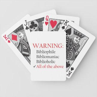 Biblio Warning Notice Bicycle Poker Deck