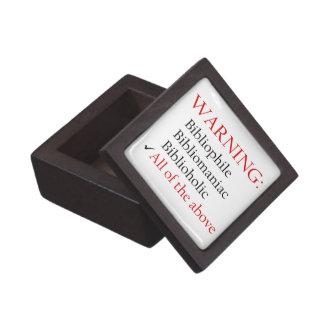 Biblio Warning Notice Premium Gift Boxes