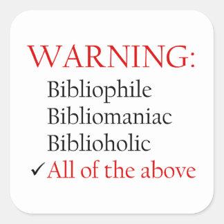 Biblio Warning Notice Stickers