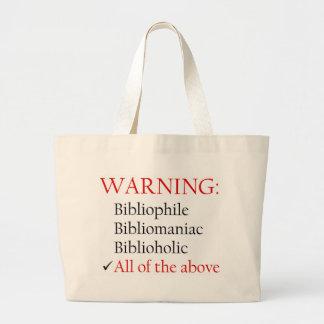 Biblio Warning Tote Tote Bags