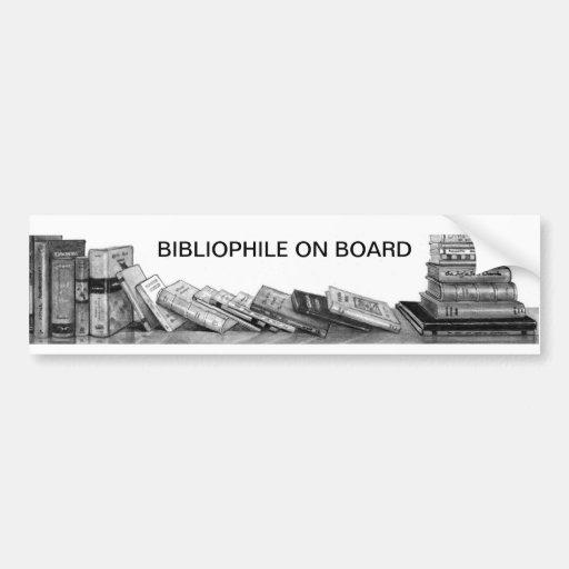 Bibliófilo a bordo: Libros en el lápiz, realismo Etiqueta De Parachoque