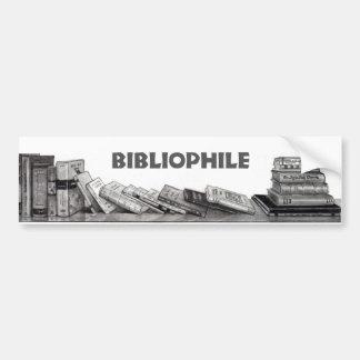 Bibliófilo Aficionado a los libros Ratón de bibl Etiqueta De Parachoque