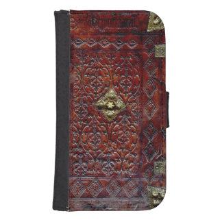 Bibliófilo de cuero antiguo del libro cartera para galaxy s4