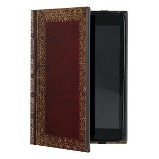 Bibliófilo de cuero antiguo del libro iPad mini funda