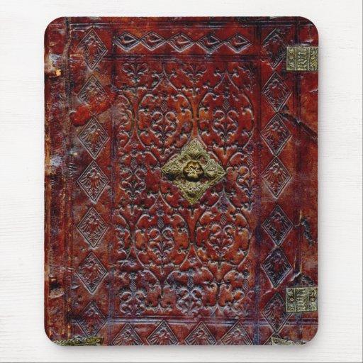 Bibliófilo de cuero antiguo del libro tapete de ratones